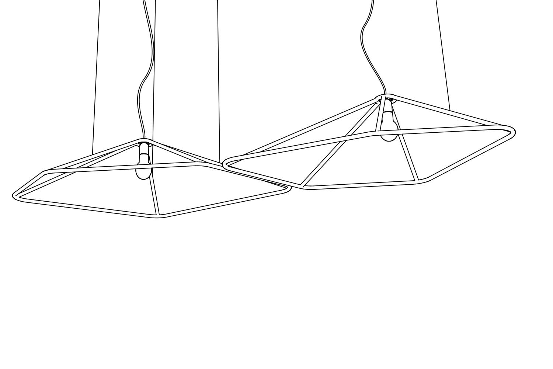 Codolagni Nubo Lamp Nude Twin Line P